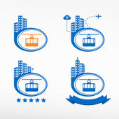Cable way funicular icon — Stock Vector