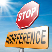 Stop indifference — Stock Photo