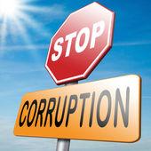 остановите коррупцию — Стоковое фото