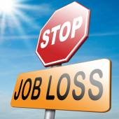 Stop job loss — Stock Photo