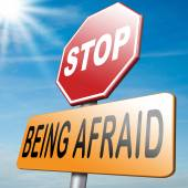 Stop being afraid no fear — Stock Photo