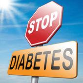 Stop diabetes — Stock Photo