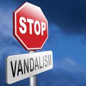 Stop vandalism — Stock Photo