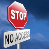Stop no access — Stock Photo