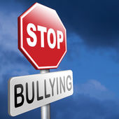 Stop bullying sign — Stock Photo