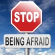Stop being afraid no fear — Stock Photo #70822613
