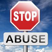 Stop abuse — Stock Photo