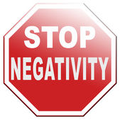 No pessimism stop negativity — Stock Photo