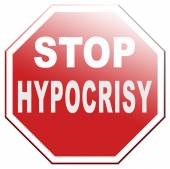 Stop hypocrisy — Stock Photo