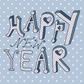 šťastný nový rok přání — Stock vektor