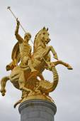 St george statue at Freedom square - Tbilisi, Georgia — Stock Photo