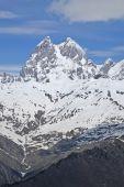 Snow-capped mountains. Ushba, Mestia Georgia — Stock Photo