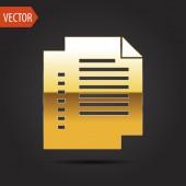 Icon of documents — Vector de stock
