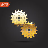 Icon of two gears — ストックベクタ