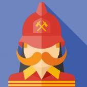 Vector firefighter — Wektor stockowy