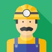 Vector miner — Stock Vector
