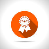 Award Icon with ribbons and stars icon — 图库矢量图片
