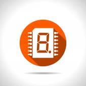 Orange icon — Stock Vector