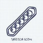 Peas sketch icon. Food symbol — Stock Vector