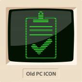 Quality control related vector icon. Pass — Stock Vector
