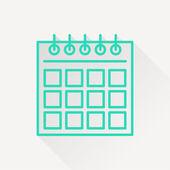 Icon of calendar — Stock Vector