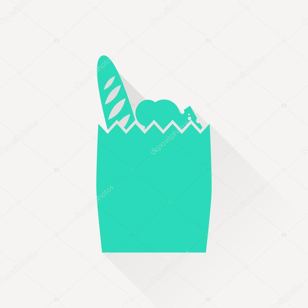 Paper bag vector - Products Paper Bag Vector Icon Stock Vector 98927698
