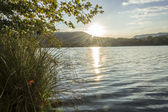 Sunset over a lake, Banyoles, Gerona, Spain — ストック写真