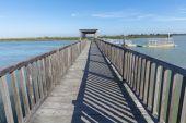 Wooden bridge pier — Stock Photo