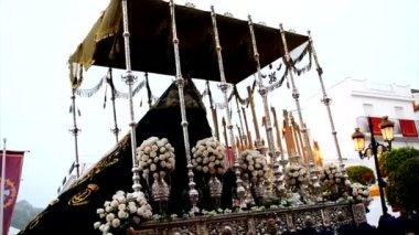 Kutsal hafta alayı İspanya, Andalusia. — Stok video