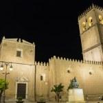 ������, ������: Saint John Baptist Cathedral at night Badajoz Spain