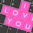 Keyboard built-in I Love You key — Stock Photo #64417529