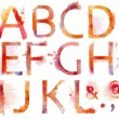 Hand drawn Watercolor alphabet — Stock Photo #64806241