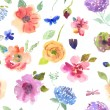 Watercolor seamless pattern — Stock Photo #64806735