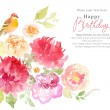 Watercolor flowers background — Stock Photo #64806857