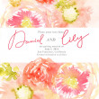 Watercolor background with beautiful flowers — Stock Photo #64806863