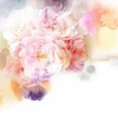 Akvarell blommor bakgrund — Stockfoto