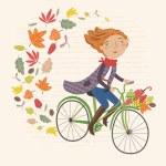 I love autumn card — Stock Vector #65082055
