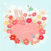 Fundo floral primavera — Vetor de Stock