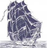 Old Sail ship — Stock Vector