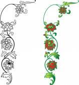 Floral oriental ornament — Stock vektor