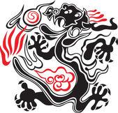 Восточный дракон — Cтоковый вектор