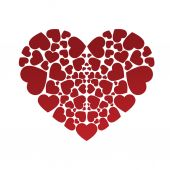 Beautiful heart composed of hearts. — Stock Vector