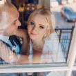 Blonde bride with her groom — Stock Photo #70427445
