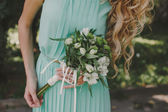 Green wedding — Stock Photo