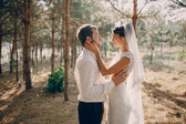 Wedding couple in love outdoors — Stock Photo