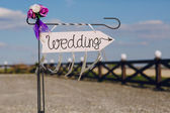 Pfeil mit der Beschriftung Hochzeit — Stockfoto