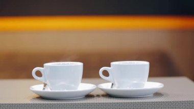 Profesjonalny ekspres w nowoczesne kawa — Wideo stockowe