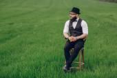 Lone bearded man — Stock Photo