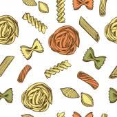 Pasta italiana en blanco — Vector de stock