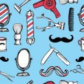 Retro barbershop set — Stock Vector